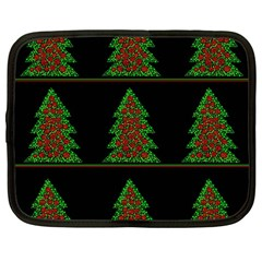 Christmas trees pattern Netbook Case (Large)