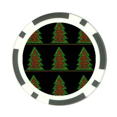 Christmas trees pattern Poker Chip Card Guards (10 pack)