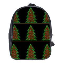 Christmas trees pattern School Bags(Large)