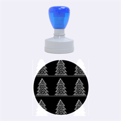 Christmas trees pattern Rubber Round Stamps (Medium)