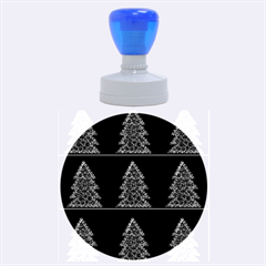 Christmas trees pattern Rubber Round Stamps (Large)