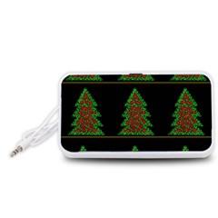 Christmas trees pattern Portable Speaker (White)