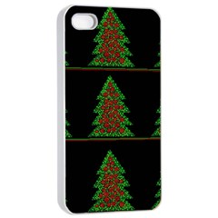 Christmas trees pattern Apple iPhone 4/4s Seamless Case (White)