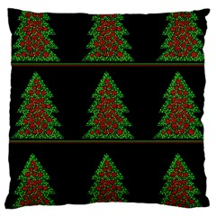 Christmas trees pattern Large Cushion Case (Two Sides)