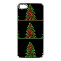 Christmas trees pattern Apple iPhone 5 Case (Silver)