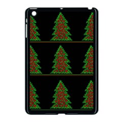 Christmas trees pattern Apple iPad Mini Case (Black)