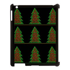 Christmas trees pattern Apple iPad 3/4 Case (Black)