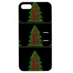 Christmas trees pattern Apple iPhone 5 Hardshell Case with Stand