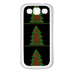 Christmas trees pattern Samsung Galaxy S3 Back Case (White)