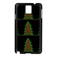 Christmas trees pattern Samsung Galaxy Note 3 N9005 Case (Black)