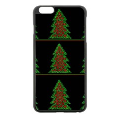 Christmas trees pattern Apple iPhone 6 Plus/6S Plus Black Enamel Case