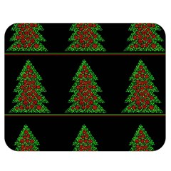 Christmas trees pattern Double Sided Flano Blanket (Medium)