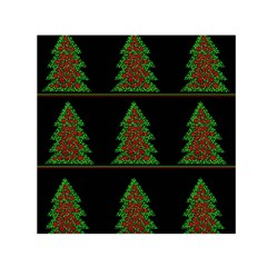 Christmas trees pattern Small Satin Scarf (Square)