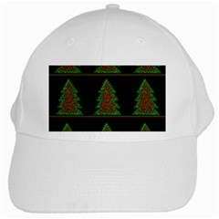 Christmas trees pattern White Cap