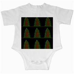 Christmas trees pattern Infant Creepers