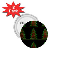 Christmas trees pattern 1.75  Buttons (10 pack)