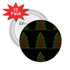 Christmas trees pattern 2.25  Buttons (10 pack)