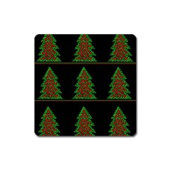Christmas trees pattern Square Magnet