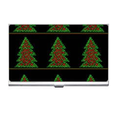 Christmas trees pattern Business Card Holders