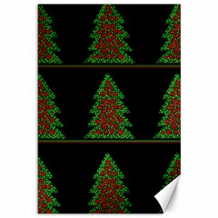 Christmas trees pattern Canvas 12  x 18