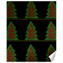 Christmas trees pattern Canvas 16  x 20