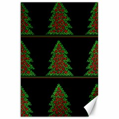 Christmas trees pattern Canvas 20  x 30