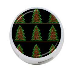 Christmas trees pattern 4-Port USB Hub (One Side)