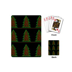 Christmas trees pattern Playing Cards (Mini)