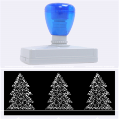 Christmas trees pattern Rubber Address Stamps (XL)