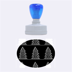 Christmas trees pattern Rubber Oval Stamps
