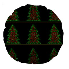 Christmas trees pattern Large 18  Premium Round Cushions