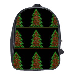 Christmas trees pattern School Bags (XL)