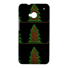 Christmas trees pattern HTC One M7 Hardshell Case