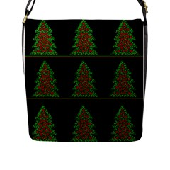 Christmas trees pattern Flap Messenger Bag (L)