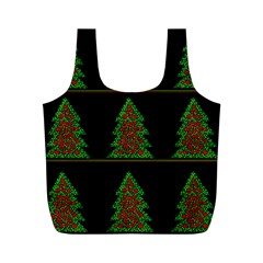 Christmas trees pattern Full Print Recycle Bags (M)