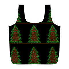 Christmas trees pattern Full Print Recycle Bags (L)