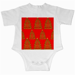 Christmas trees red pattern Infant Creepers