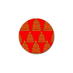 Christmas trees red pattern Golf Ball Marker