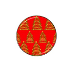 Christmas trees red pattern Hat Clip Ball Marker (4 pack)