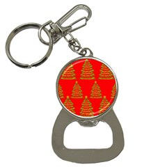 Christmas trees red pattern Bottle Opener Key Chains