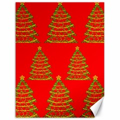 Christmas trees red pattern Canvas 18  x 24