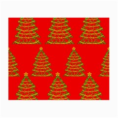 Christmas trees red pattern Small Glasses Cloth (2-Side)