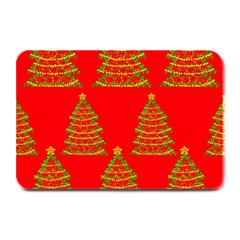 Christmas trees red pattern Plate Mats