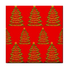 Christmas trees red pattern Face Towel