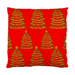 Christmas trees red pattern Standard Cushion Case (Two Sides)