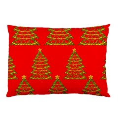 Christmas trees red pattern Pillow Case