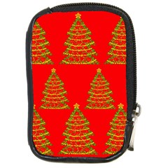 Christmas trees red pattern Compact Camera Cases