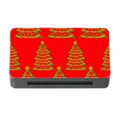 Christmas trees red pattern Memory Card Reader with CF