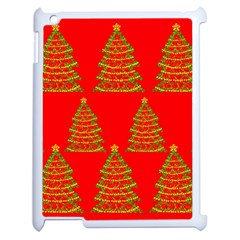 Christmas trees red pattern Apple iPad 2 Case (White)