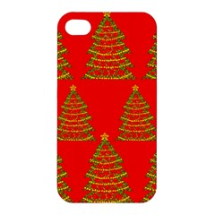 Christmas trees red pattern Apple iPhone 4/4S Hardshell Case